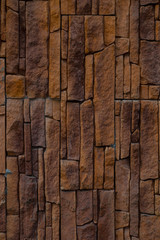 The background of an red stone wall