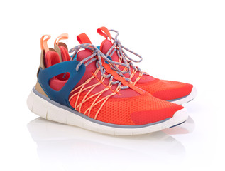 Fitness shoes isolated