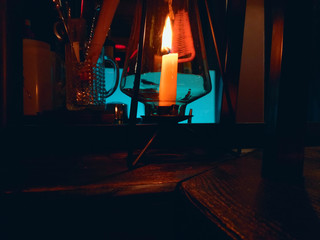 candle in a pub