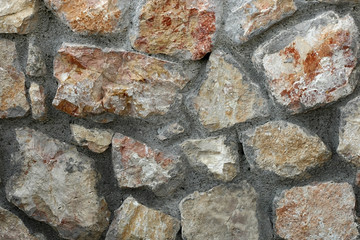 Gray brown stone wall background
