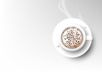Vector isolated cup of coffee collection, cappuccino