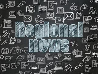 News concept: Regional News on School board background