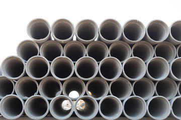 The asbestos cement pipes.