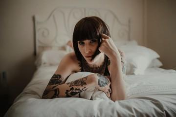 Boudoir inked girl