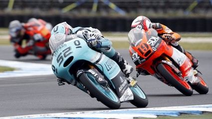 Leopard Racing Moto3 rider Danny Kent of Britain rides during free practice 1 before the Australian Grand Prix on Phillip Island