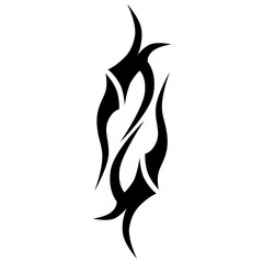 Tribal tattoo vector designs sketch. Simple abstract black logo ornament on white background. Designer isolated art element for ideas decorating the body of women, men and girls arm, leg.