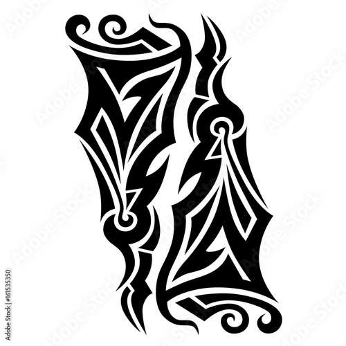 Tribal Tattoo Vector Designs Sketch Simple Abstract Black Logo