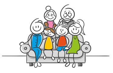 Stick Figure Series Strichfiguren Familienfoto