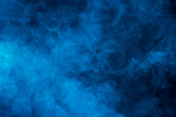Texture of blue smoke