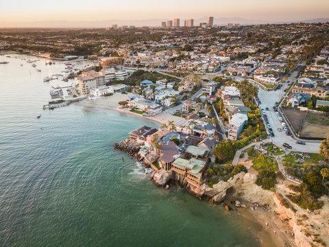 Aerial of Newport Beach Corona Del Mar