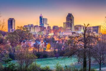 Raleigh, North Carolina, USA dawn skyline.