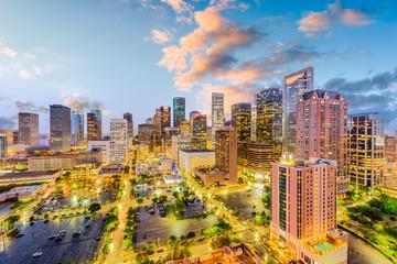 Houston, Texas, USA downtown skyline.