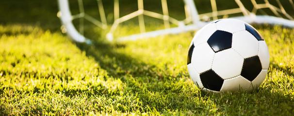 Soccer ball in sunlight