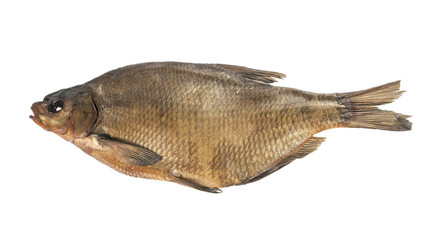 Smoked bream isolated on white background