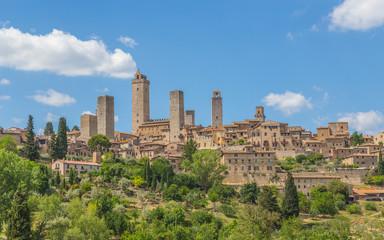 Panoramablick auf San Gimignano Toskana Italien Fototapete