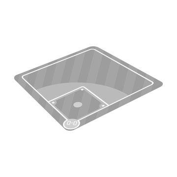 Baseball court. Baseball single icon in monochrome style vector symbol stock illustration web.