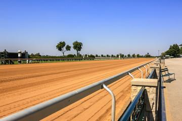 The newly prepared racetrack at Keeneland racecourse in Lexington, Kentucky
