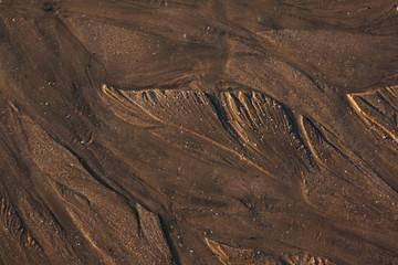 Природный рисунок на морском песке.