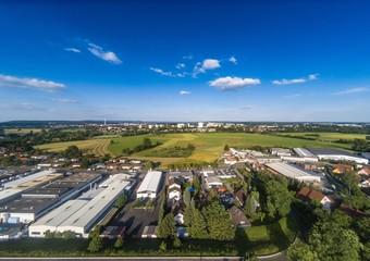 Aerial photo of the landscape near the main-danube channel near Erlangen in Bavaria