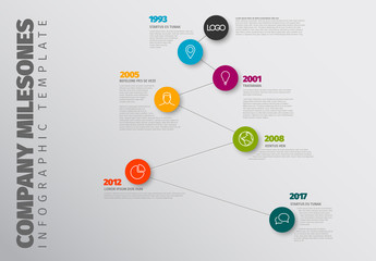 Vertical Zigzag Timeline Infographic Layout 1