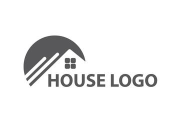 monochrome design of house logo