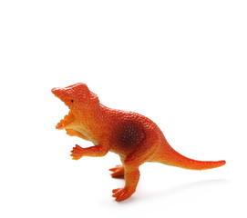 Pachycephalosaurus, Toy plastic dinosaur isolated on white background