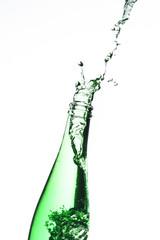 bottle splash green