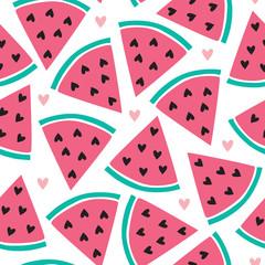 seamless melon pattern vector illustration