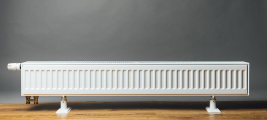 heating radiator on grey background Wall mural