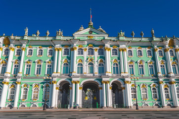 Winter Palace building housing Hermitage museum.