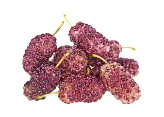 Pile of mulberry isolated on a white background
