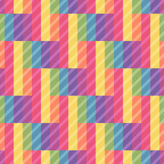 Seamless bright pattern of rectangles. Overlay texture pattern.