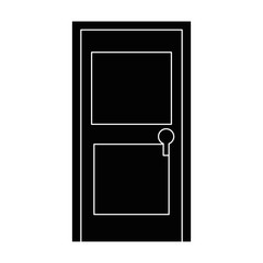 isolated door cartoon icon vector graphic illustration