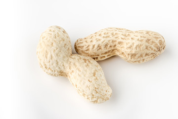 Peanut nut on white background