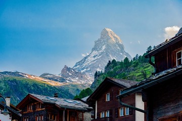 Zermatt panorama, Swiss ski resort