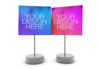 2 Note-Holder Stands Isolated on White Mockup 1