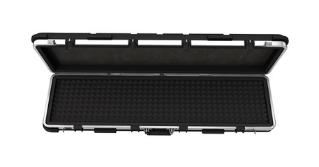 Military black case for rifle on isolated white background. 3d illustration