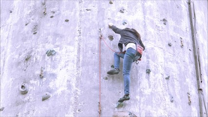 Rock climbers in Santiago, Chile