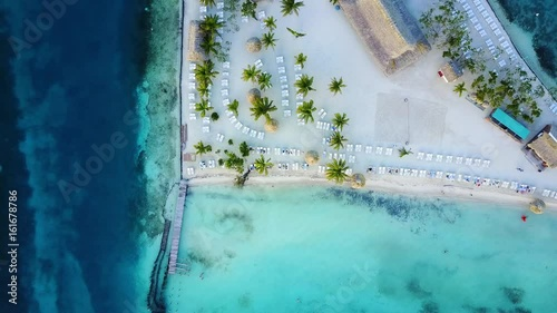 bdc9e1805987 Overhead shot of crystal clear waters on a relaxing beautiful beach ...
