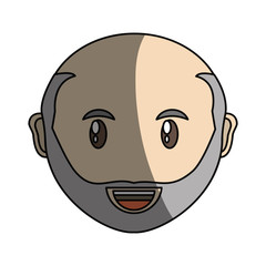 Adult face cartoon icon vector illustration graphic design