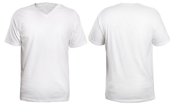 White V-Neck Shirt Mock up