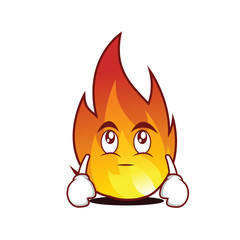 Eye roll fire character cartoon style