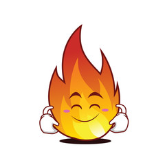 Cute smile fire character cartoon style