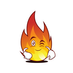 Wink fire character cartoon style