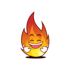 Laughing fire character cartoon style