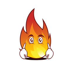 Flat face fire character cartoon style