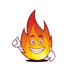 optimistic fire character cartoon style