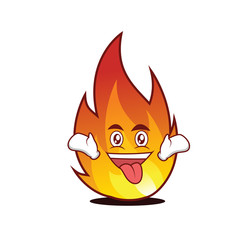Crazy fire character cartoon style
