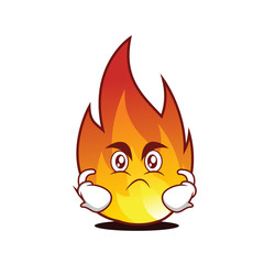 Angry fire character cartoon style