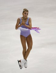 Elena Radionova of Russia competes at the ladies' free skating program during China ISU Grand Prix of Figure Skating, in Beijing
